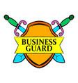 business guard icon cartoon vector image vector image