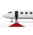 businessman boarding in executive airliner vector image vector image