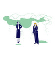businesswomen characters with smartphone and vector image vector image
