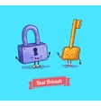 cartoon Protection security lock and key vector image vector image