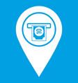 cash terminal pointer icon white vector image vector image