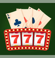 casino label business success 777 win vector image