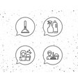 cleaning services spray and plunger icons vector image vector image