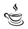 coffee cup icon on a white background vector image