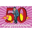 Congratulations 50 anniversary event celebration vector image vector image