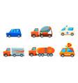 cute city transport set urban colorful childish vector image vector image