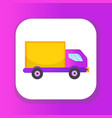 delivery truck icon flat style lorry for vector image