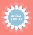 dental poster - round frame row teeth vector image vector image