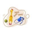 dog accessories set pet animal stuff toys vector image