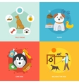 Dog Icons Flat Set vector image vector image