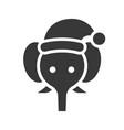 elephant wearing santa hat silhouette icon design vector image vector image
