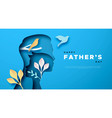 fathers day papercut card dad and son template vector image vector image