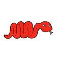 funny comic cartoon snake vector image vector image