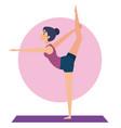 girl doing yoga pose design vector image