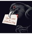 Halloween Raven vector image vector image
