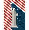 July 4 th Independence Day Statue of Liberty USA vector image