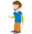 Kid boy cartoon character vector image