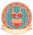 Lingerie label on old paper textureVintage retro vector image vector image