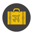 luggage suitcase glyph color icon vector image