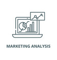 marketing analysis line icon linear vector image vector image