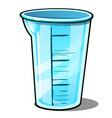 measuring plastic cup isolated on white background vector image vector image