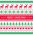 Merry Christmas pattern with deer - scandynavian s vector image vector image