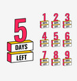 number days left countdown banner design
