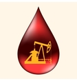 Oil pump in a drop of oil vector image vector image
