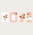 peach invitation card wedding vintage vector image vector image