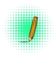 Pencil icon comics style vector image vector image