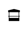 Promo stand Icon Flat vector image