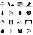 running icon set vector image