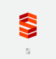 s logo monogram consist folded lines vector image