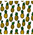 seamless pattern with pineapples design element vector image vector image