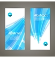 Set of blue lines and geometric banners for modern vector image vector image