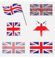 Set with Flags of United Kingdom vector image vector image