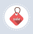 shopping icon tag sale concept flat vector image vector image