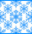 simple seamless pattern with snowflakes on white vector image