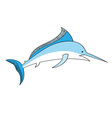 simple swordfish isolated on the white vector image