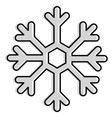 snowflake weather isolated icon vector image