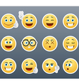 Stickers with emotions vector image vector image
