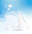 summer holiday vacation poster with paper boats vector image