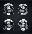 summer labels and design elements vector image vector image