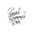 summer sale inscription handwritten modern vector image