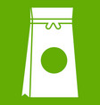 tea packed in a paper bag icon green vector image vector image