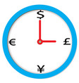 time of money sign time of money on white vector image vector image
