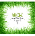 typography composition with welcome spring words vector image vector image