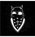 urban street hip hop gangsta rapper skull in vector image