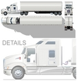 vector HI detailed semi truck vector image vector image