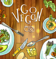vegetarian food on board vector image
